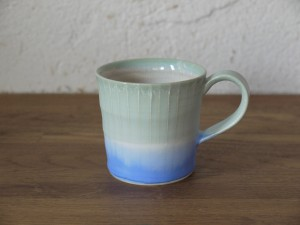 色彩結晶釉マグカップsmall緑