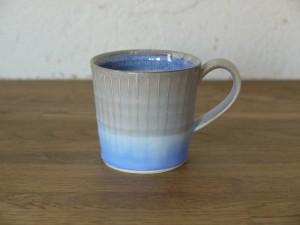 色彩結晶釉マグカップsmall茶グレー