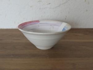 色彩結晶釉茶碗赤