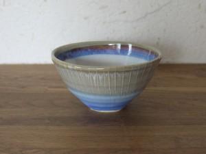 色彩結晶釉茶碗茶グレー