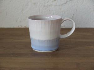 色彩結晶釉マグカップsmall桃