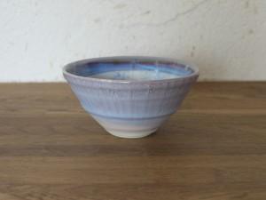 色彩結晶釉茶碗紫